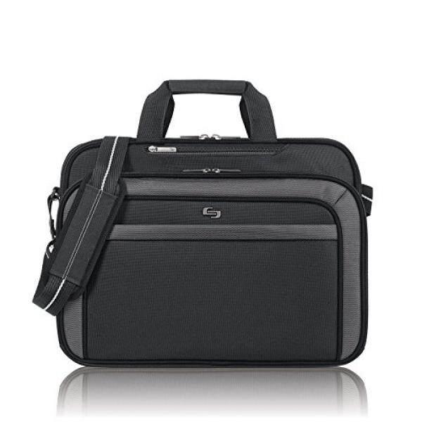 Solo Empire 17.3 Inch Laptop Briefcase, TSA Friendly, Black/Grey - intl
