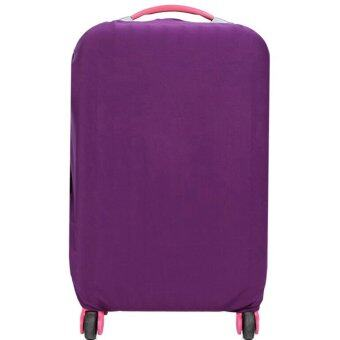 Stretchable Elastic Travel Luggage Suitcase Protective Cover- Purple
