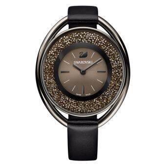 Swarovski Crystaline Oval Black Tone Watch