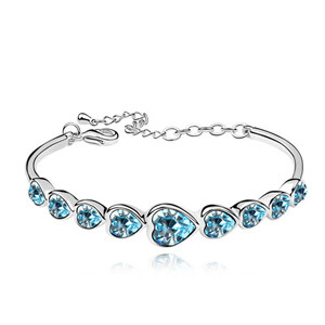 Swarovski High Quality Heart Bracelet Made with Swarovski ElementsCrystal From Swarovski Pulseira Women Bijoux for Wedding