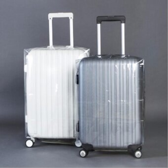 Travel Luggage Suitcase Protective Cover Anti Dust WaterproofTransparent PVC Luggage Cover (22 Inch)