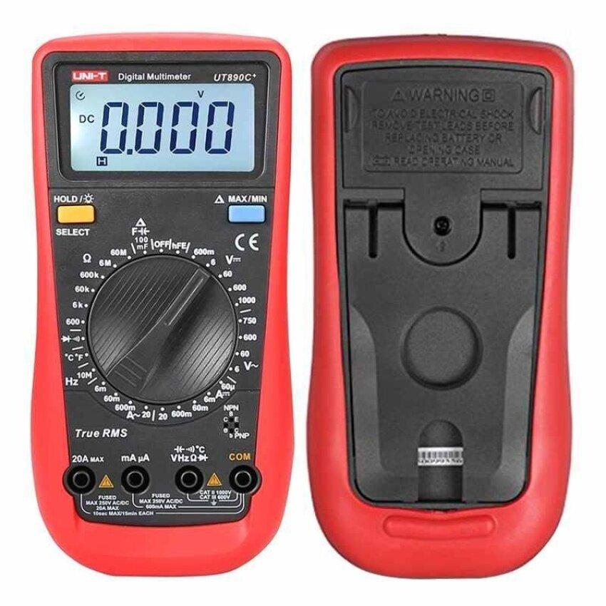 UNI-T UT890C + Digital LCD Multimeter AC DC Lampu Latar Otomotif Suhu-Internasional