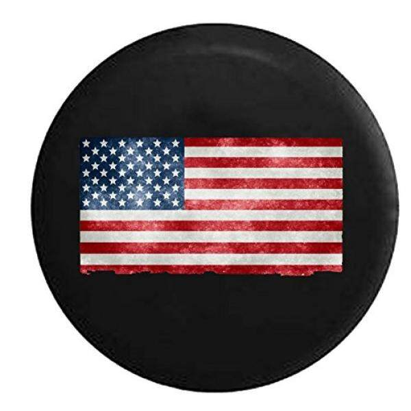 United States of America US Flag Distressed Tattered Vintage Spare Jeep Wrangler Camper SUV Tire Cover 29 in - intl