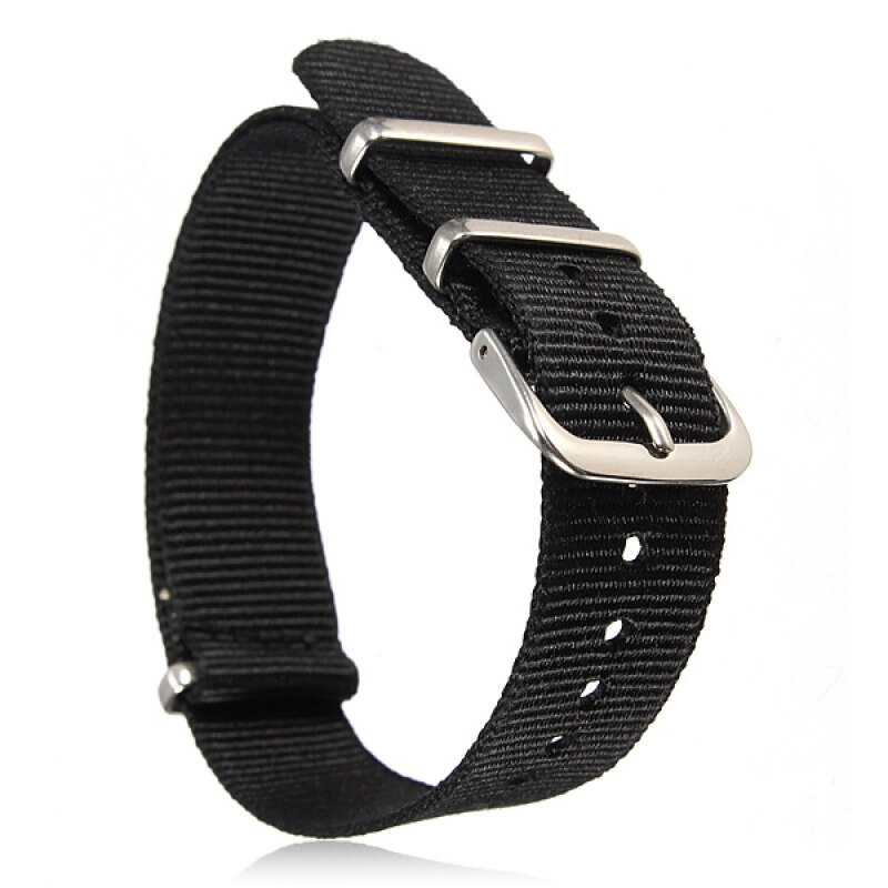 Universal 18mm Durable Mens Military Nylon Wrist Watch Band Strap 260mm 30# Malaysia