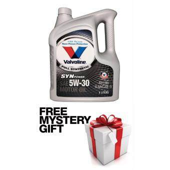 Valvoline Engine Oil Fully Synthetic 5W-30 API SN 4 Liters FREE MYSTERY GIFT