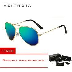 polarized sunglasses for men 0x34  VEITHDIA Brand Classic Fashion Polarized Sunglasses Men/Women Colorful  Reflective Coating Lens Eyewear Accessories Sun Glasses 3026Gold Green [  Buy 1 Get