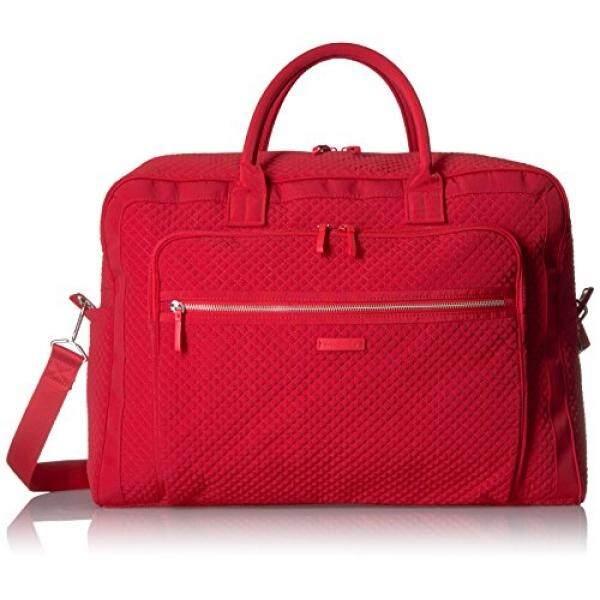 Vera Bradley Womens Iconic Grand Weekender Travel Bag Vera, cardinal red, One Size - intl
