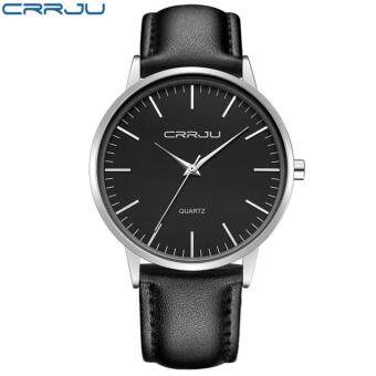 vintage crrju fashion leather band men simple quartz wrist watch vintage crrju fashion leather band men simple quartz wrist watch