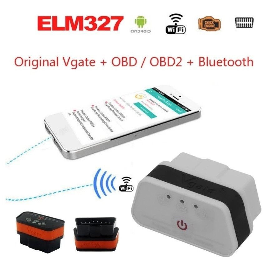 WIFI Auto Diagnostic Interface Scanner iCar 2 II ELM327 Code Reader Adapter OBD OBD2 TP-LG05W (White Black) DING XIN III 10302 - intl