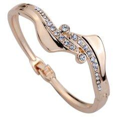 Yazilind 18k Golden Plated Elegant Bell Women Fashion Bangle Source Yazilind Source Yazilind .