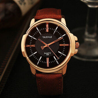 YAZOLE Brand Luxury Famous men Watch Jam Tangan es leisure Quartz Watch Jam Tangan Dropshipping Business leather Watch Jam Tangan Male Clock 358