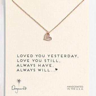 YingWei Tiny Elegant Small Love Heart Cute Clavicle Short Necklace Present Golden