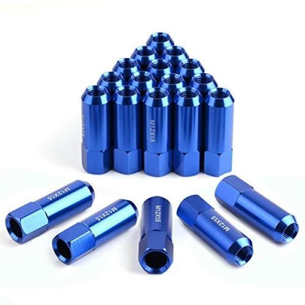 Yitamotor 20 Pcs Biru 12X1.5 Buka Akhir Bulge Acorn Kacang Lug-19 Mm Hex-Cone Kursi -2.36