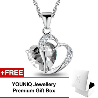 YOUNIQ Aegean Love 925 Sterling Silver Necklace Pendant with White Cubic Zirconia