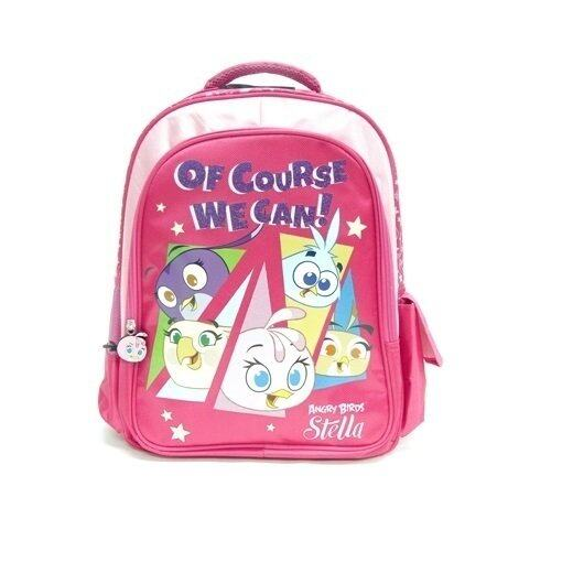 """Angry Birds Stella Backpack 16"""" - Pink Colour"""