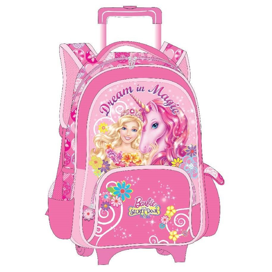 Barbie School Trolley Bag 16 Inches - Pink Colour