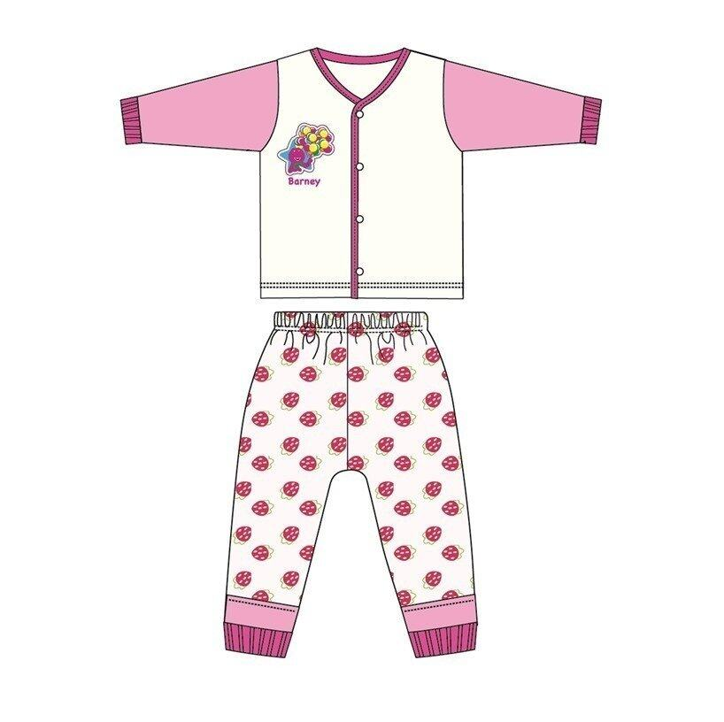 Barney And Friends Casual Homewear 100% Cotton 0mth to 2yrs - Pink Colour