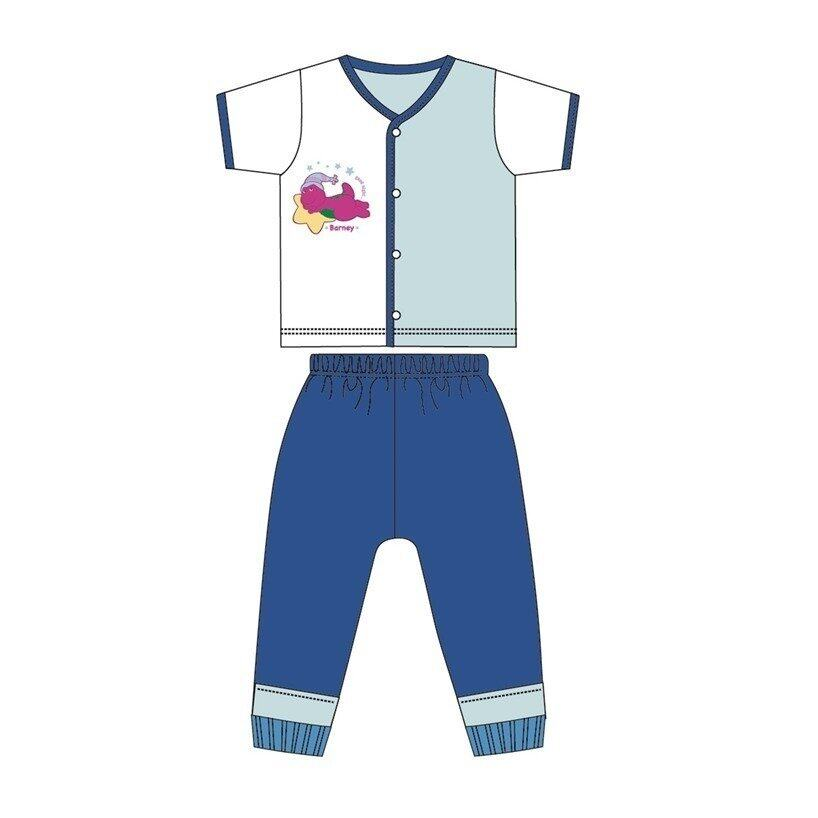 Barney And Friends Casual Short Sleeve 100% Cotton 0mth to 2yrs - Blue Colour