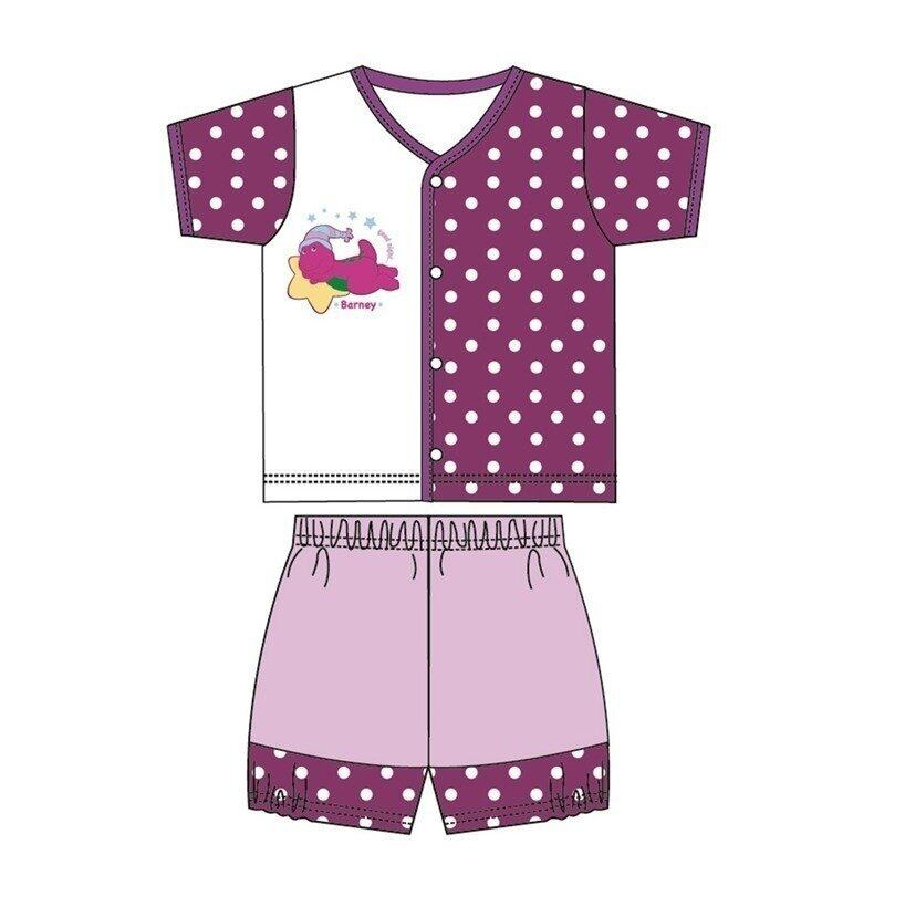 Barney And Friends Casual Short Sleeve 100% Cotton 0mth to 2yrs - Purple Colour