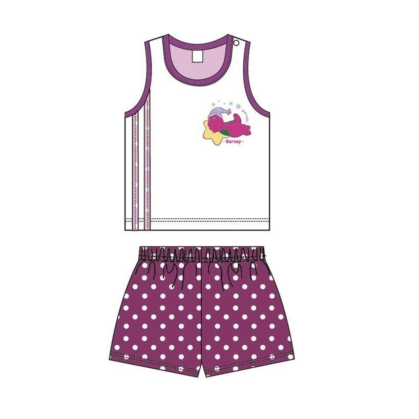 Barney And Friends Sleeveless Homewear 100% Cotton 0mth to 2yrs - Purple Colour
