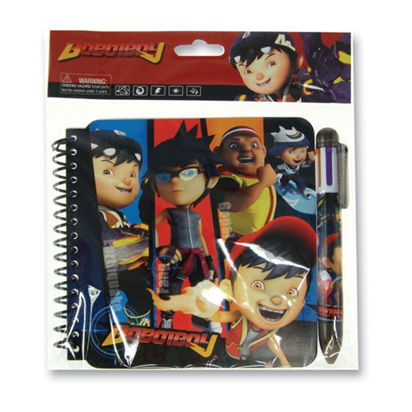 BoBoiBoy Notebook Set - Red Colour