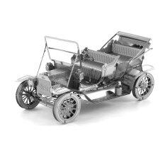 Creative 3D Laser Cute Models Metallic Ford Tin Lizzy Nano Puzzle 2-piece Set (Silver)