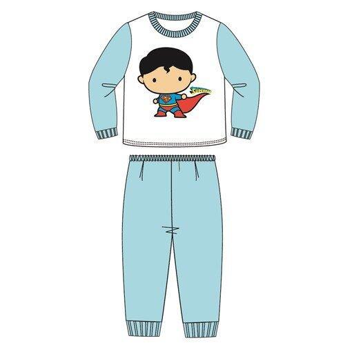 DC Comics Superman Boy Pajamas 100% Cotton 4yrs to 12yrs - Blue Colour