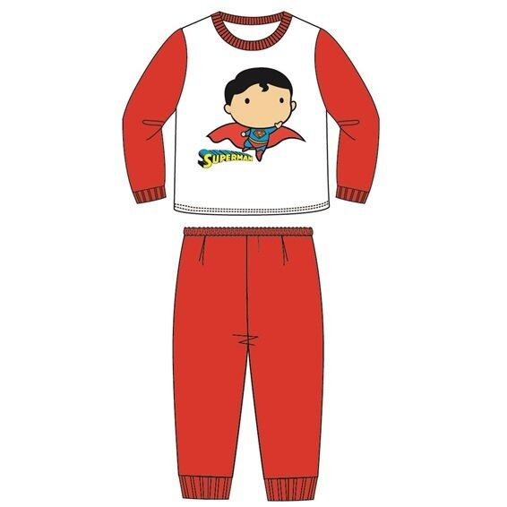 DC Comics Superman Boy Pajamas 100% Cotton 4yrs to 12yrs - Red Colour