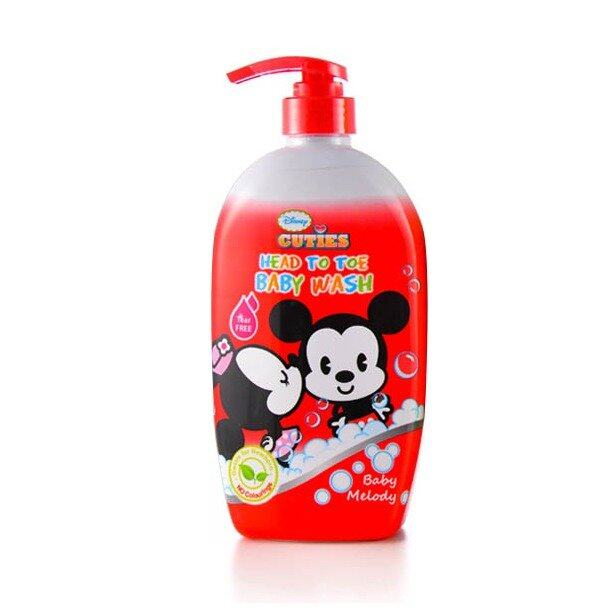 Disney Cuties Head To Toe Baby Wash 450ML - Baby Melody Red