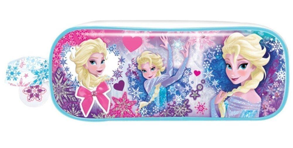 Disney Frozen School Bag With Square Pencil Bag Set Purple