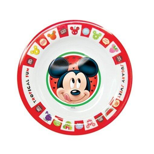 """Disney Mickey 8"""" Soup Plate - Red And White Colour"""