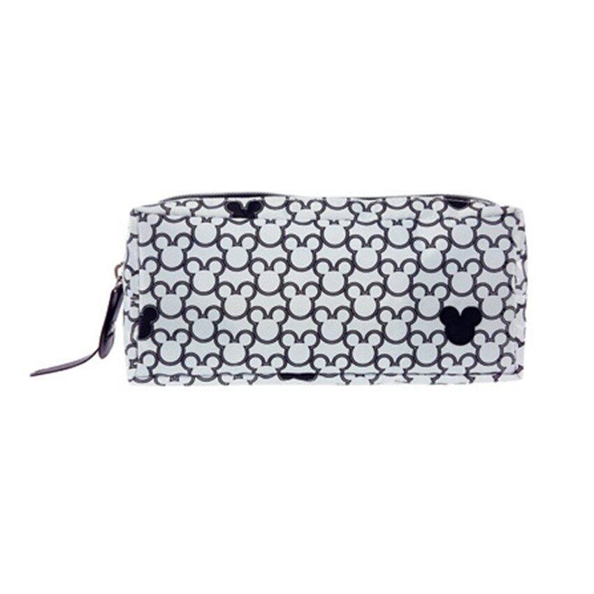 Disney Mickey Adult Double Zip Pencil Bag - White Colour