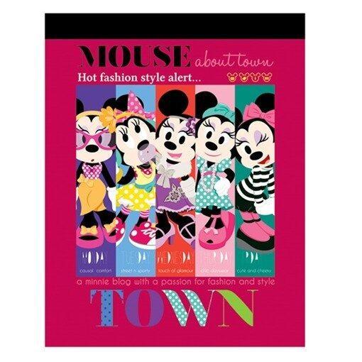 Disney Mickey Minnie Retro Exercise Book Set - Pink And Black Colour