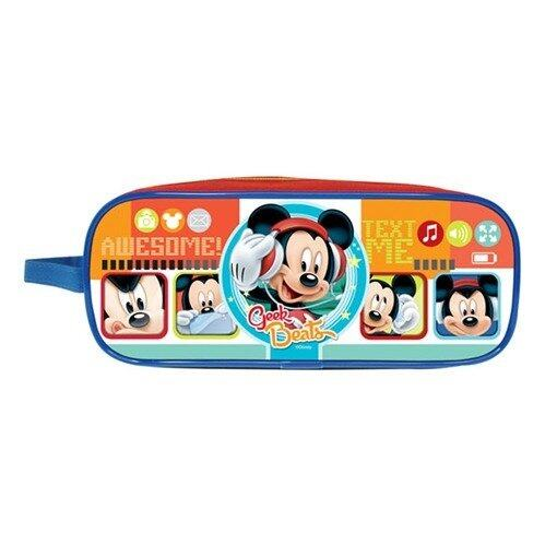 Disney Mickey Square Pencil Bag - Blue Colour