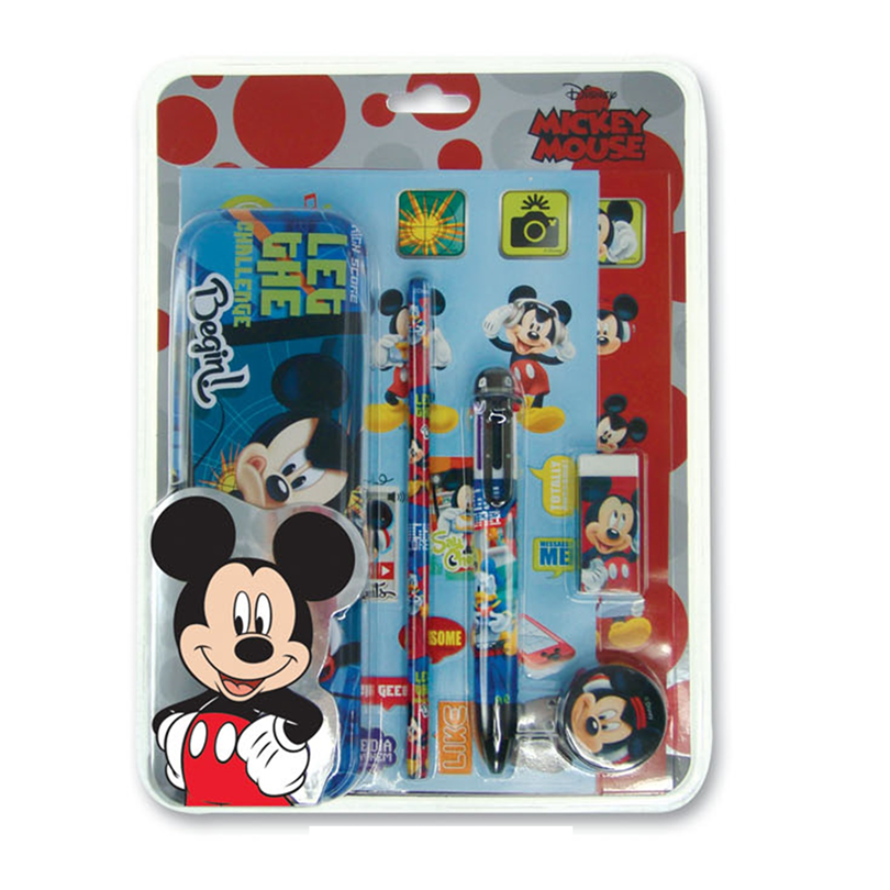 Disney Mickey Stationery Set - Blue And Red Colour