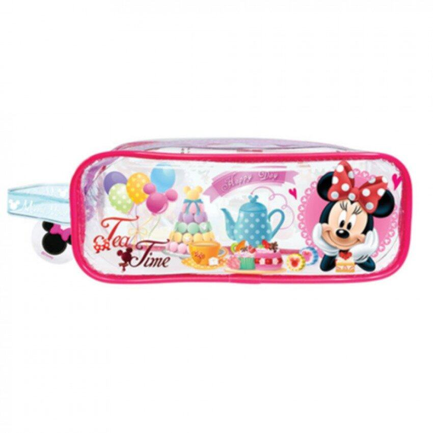 Disney Minnie Square Pencil Bag Set - Pink And Purple Colour
