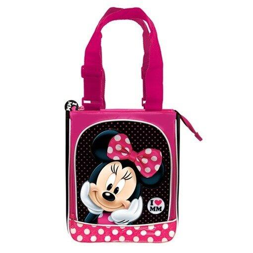 Disney Minnie Tote Bag - Pink And Black Colour