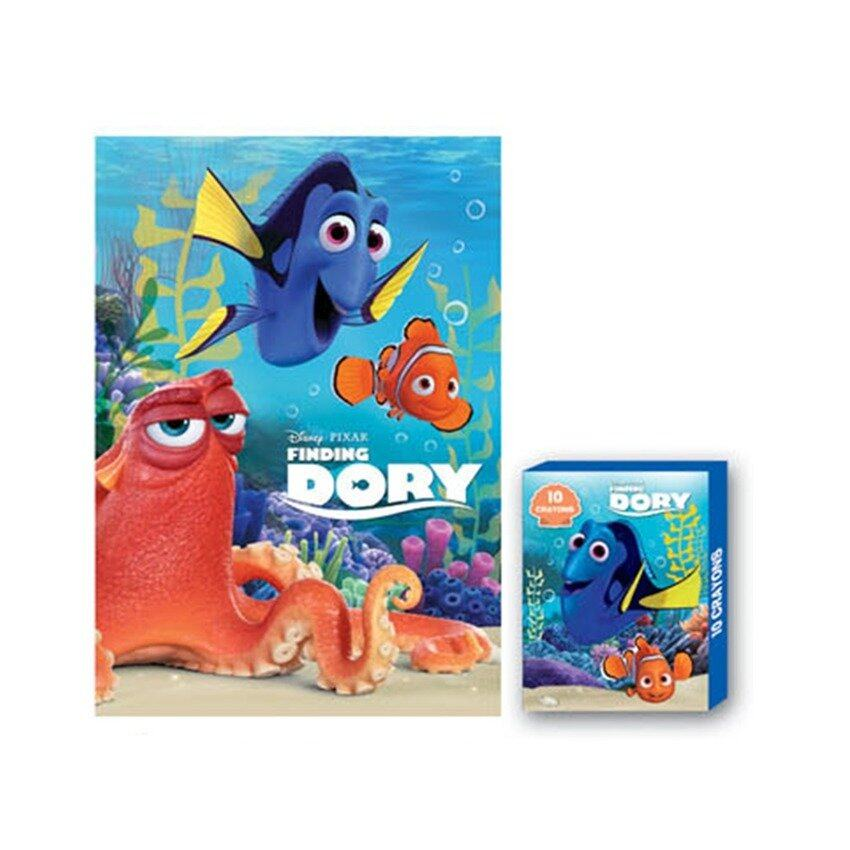 Disney Pixar Finding Dory Colouring Book With Crayon Set - Blue Colour