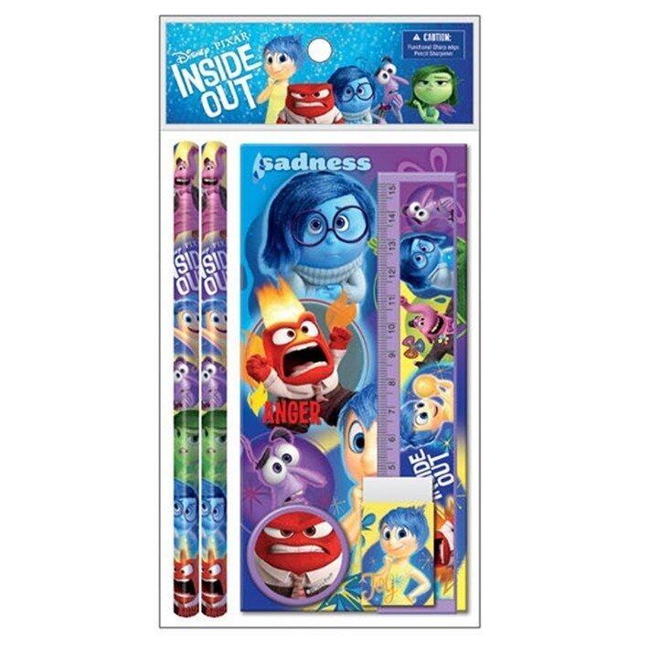 Disney Pixar Inside Out Stationery Set Value Pack - Blue And Purple