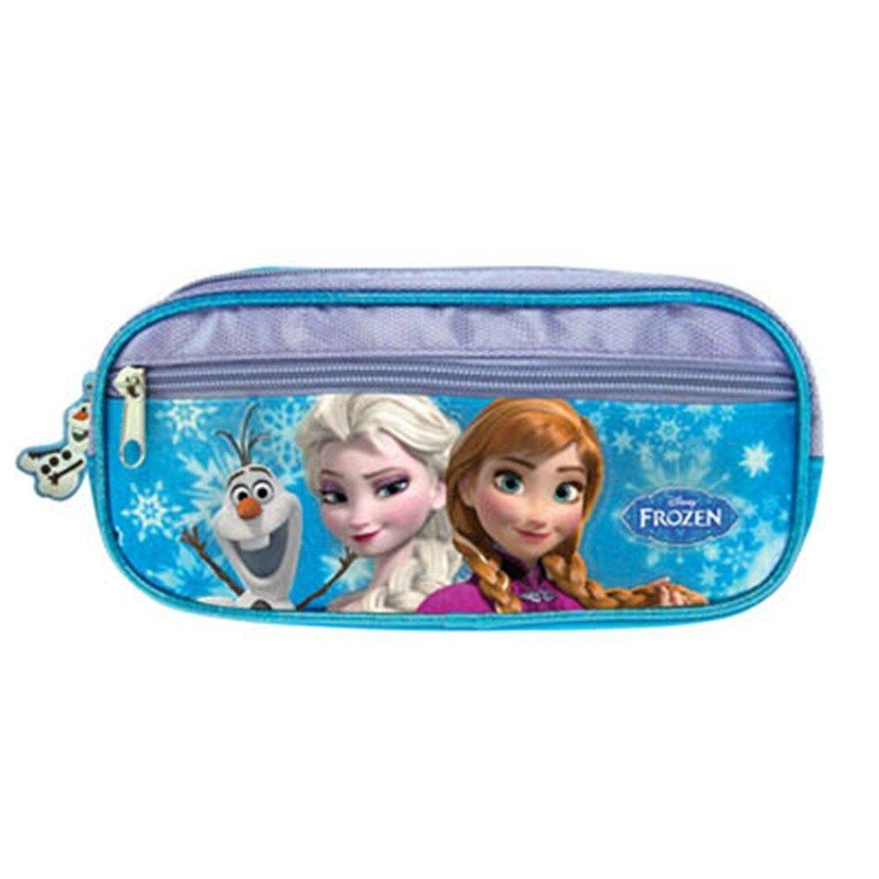Disney Princess Frozen Square Pencil Bag - Blue And Purple Colour