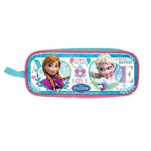 Disney Princess Frozen Square Pencil Bag - Blue Colour
