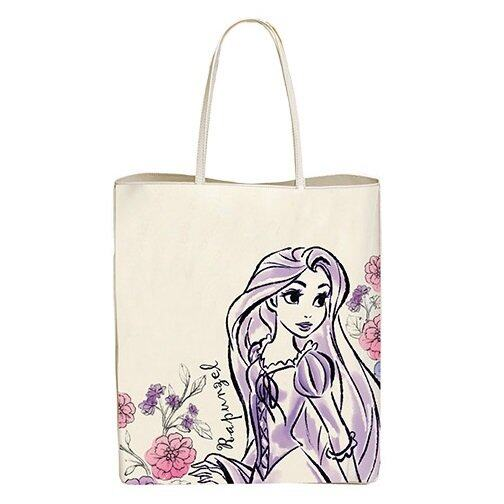 Disney Princess Rapunzel Adult Large Tote Bag - Purple And White Colour