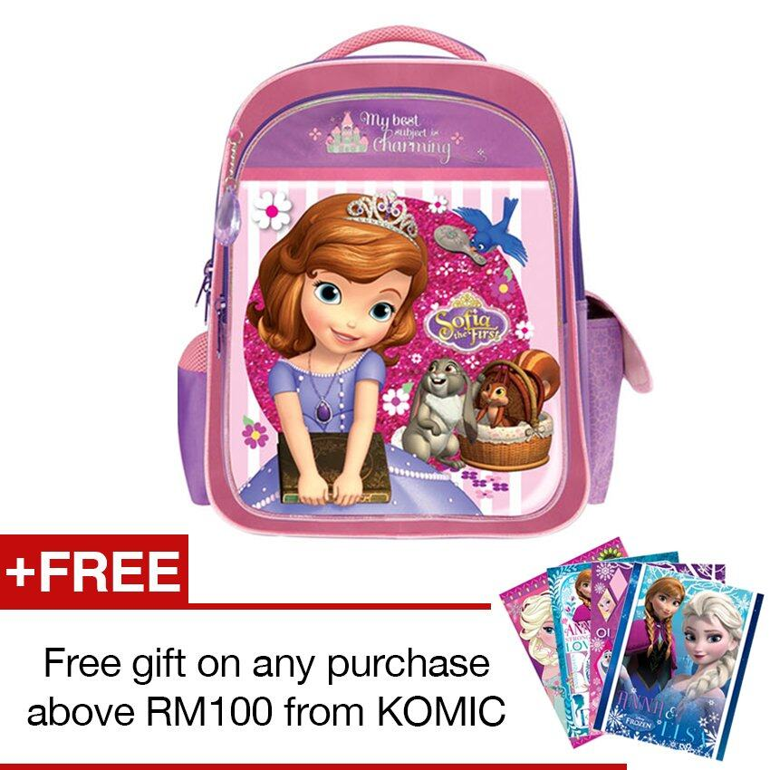 Disney Princess Sofia School Bag - Purple Colour