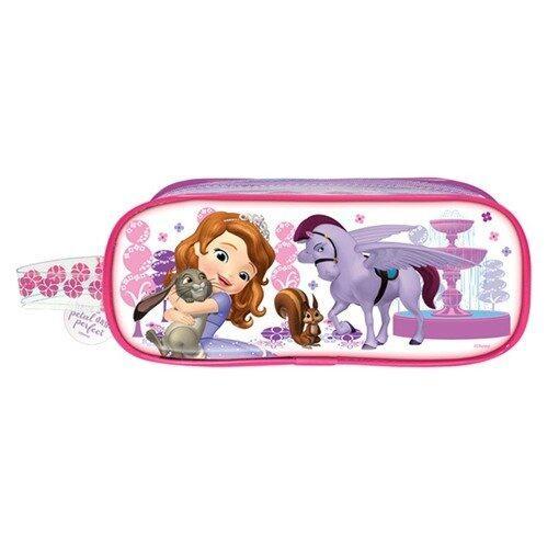 Disney Princess Sofia Square Pencil Bag - Pink Colour
