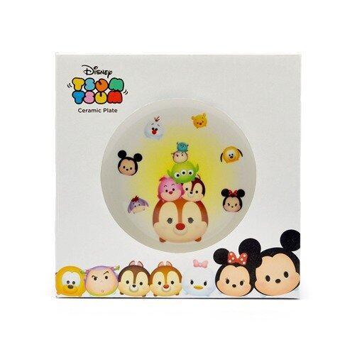 Disney Tsum Tsum Ceramic Plate 7 Inches - White Colour