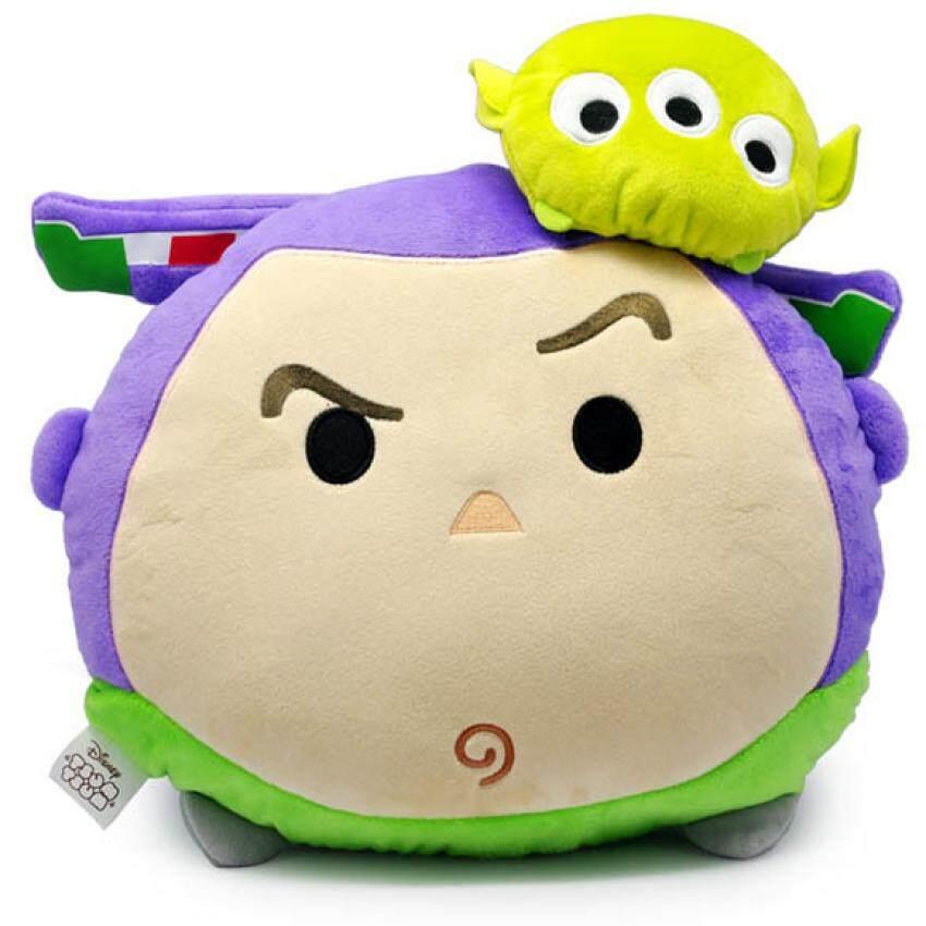 Disney Tsum Tsum Two Head Cushion - Buzz Lightyear & Alien