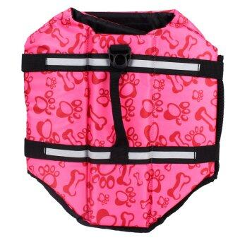 Life jacket vest reflective pet preserver aquatic safety size xxs xxl