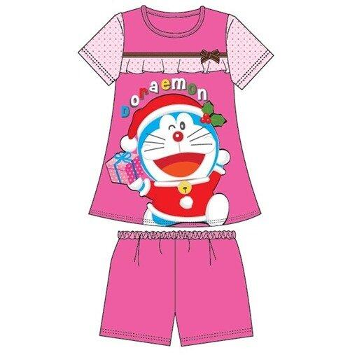 Doraemon Christmas Adult Homewear 100% Cotton Free Size - Fuschia Pink Colour