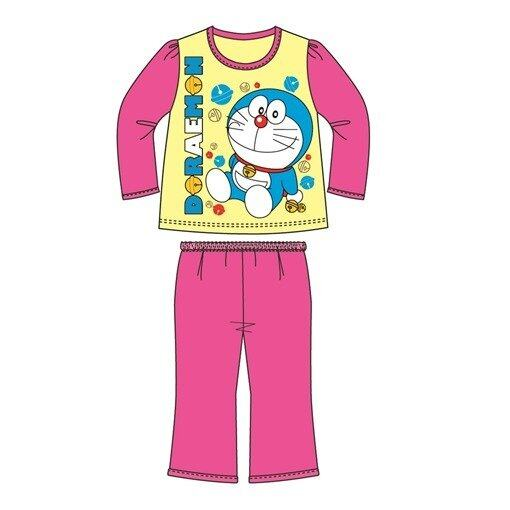 Doraemon Christmas Homewear 100% Cotton 4yrs to 12yrs - Yellow Pink Colour