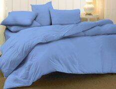 Essina 100% Cotton 620TC Candies Blue Fitted Bed Sheet Set